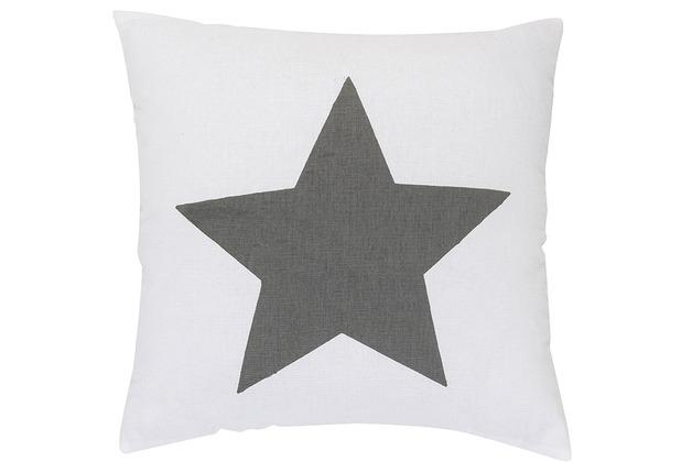 Elbersdrucke Kissen Big Star 07 grau 45 x 45 cm