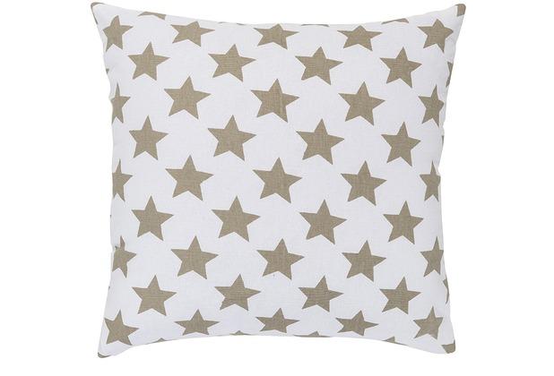 Elbersdrucke Kissen Stars allover 06 braun 45 x 45 cm
