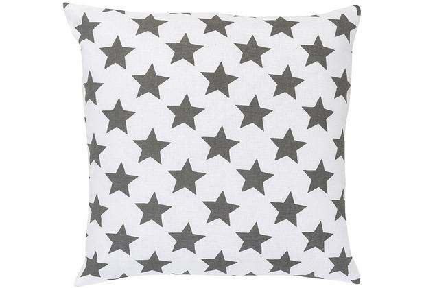 Elbersdrucke Kissen Stars allover 07 grau 45 x 45 cm