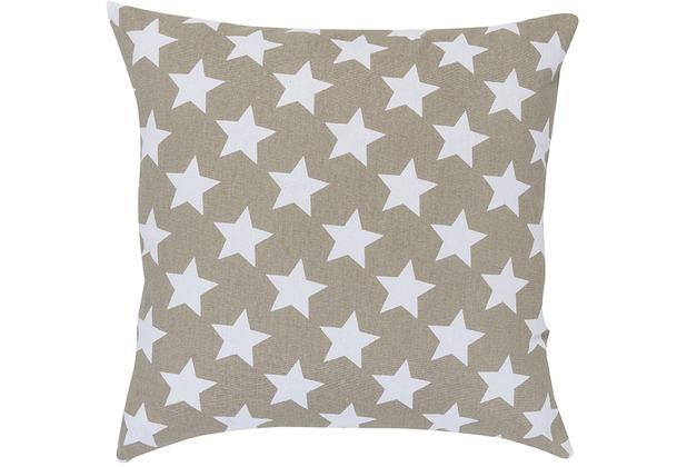 Elbersdrucke Kissen Stars allover 16 braun 45 x 45 cm