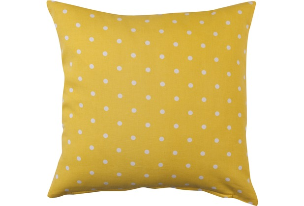Elbersdrucke Kissenhülle Dots 02 gelb 50 x 50cm