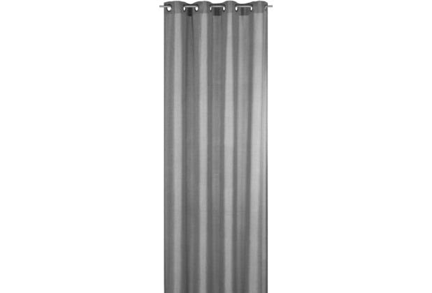 Elbersdrucke Ösenschal Lino 07 grau 140 x 255 cm