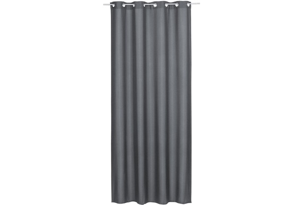 Elbersdrucke Ösenschal Lino 17 grau 140 x 255 cm