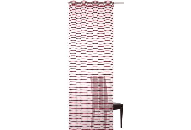 Elbersdrucke Ösenschal Zen 04 rot-bordeaux 140 x 255 cm