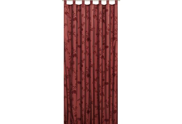 Elbersdrucke Schlaufenschal Bonjour Taft 14 bordeaux 140 x 255 cm