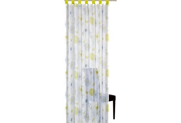 Elbersdrucke Schlaufenschal Flower Mix 03 weiß-grün-hellblau 140 x 255 cm