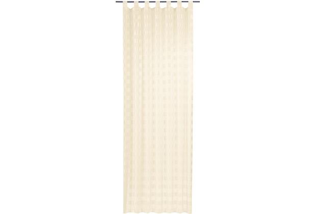 Elbersdrucke Schlaufenschal Karo-Voile 09 beige 140 x 255 cm