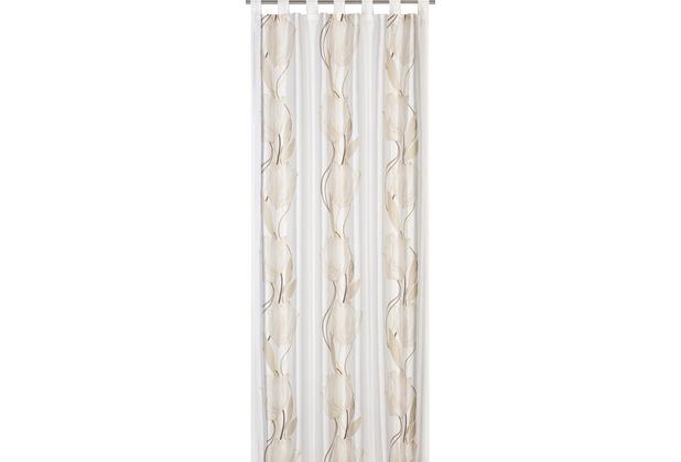 Elbersdrucke Schlaufenschal Seduction 06 offwhite-braun 140 x 255 cm