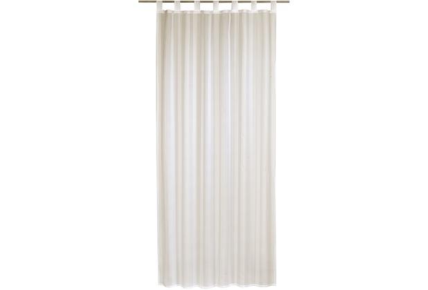 Elbersdrucke Schlaufenschal Streifenvoile champa beige 140 x 255 cm