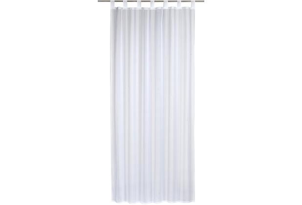 Elbersdrucke Schlaufenschal Streifenvoile weiß 140 x 255 cm