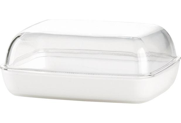 emsa Butterdose VIENNA, Transparent/Weiß, 13,50 x 10,00 x 5,50 cm