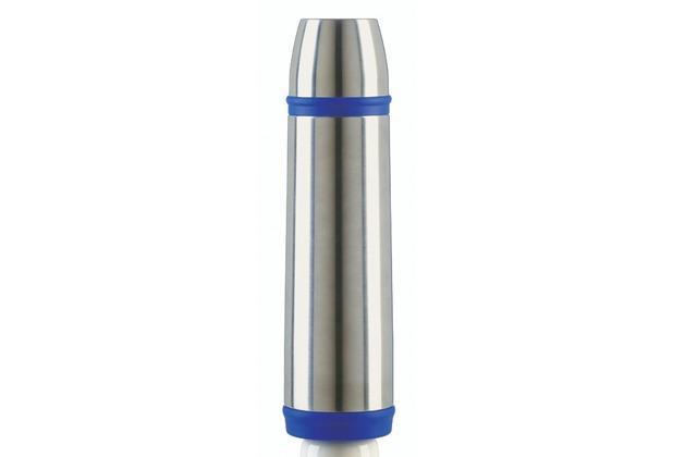 emsa Isolierflasche CAPTAIN, Edelstahl/Blau, 0,70 Liter