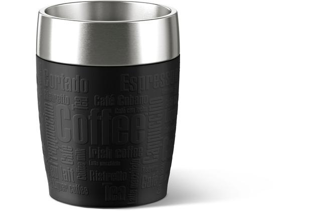 emsa Isolierbecher TRAVEL CUP Schwarz 0,20 Liter