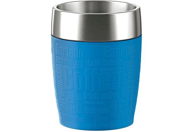 emsa Isolierbecher TRAVEL CUP Wasserblau 0,20 Liter
