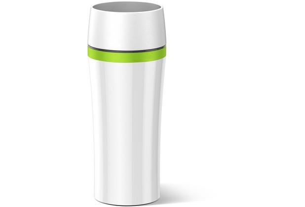 emsa Isolierbecher TRAVEL MUG Fun, weiß-grün, 0,36 Liter