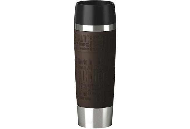 emsa Isolierbecher TRAVEL MUG Grande Manschette, Braun, 0,50 Liter
