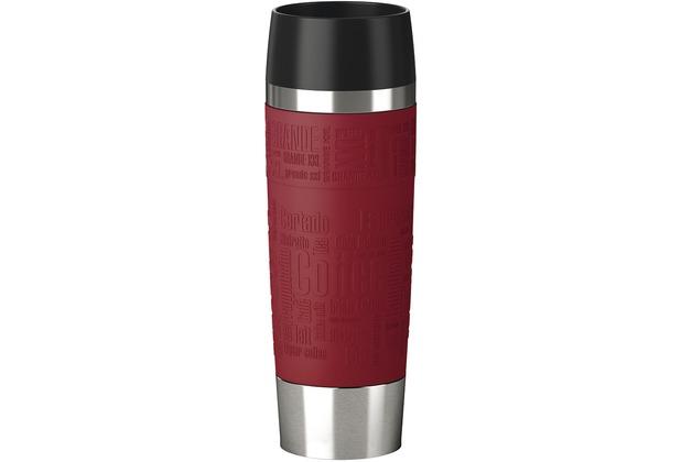 emsa Isolierbecher TRAVEL MUG Grande Manschette, Rot, 0,50 Liter