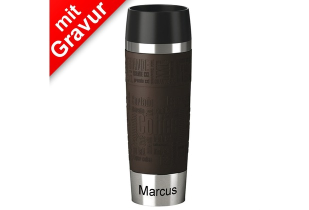 emsa isolierbecher travel mug grande xxl manschette braun. Black Bedroom Furniture Sets. Home Design Ideas