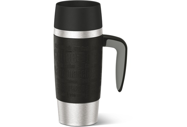 emsa Isolierbecher TRAVEL MUG Handle schwarz 0,36 Liter