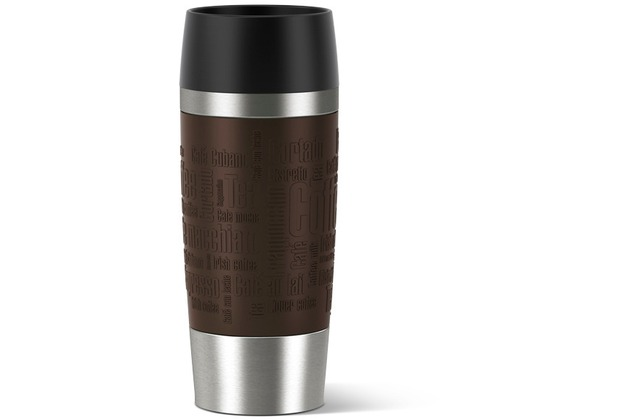 emsa Isolierbecher TRAVEL MUG Manschette, braun, 0,36 Liter