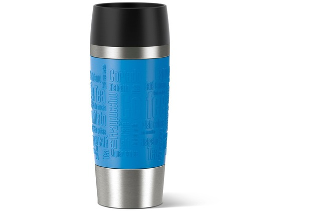 emsa Isolierbecher TRAVEL MUG Manschette, wasserblau, 0,36 Liter