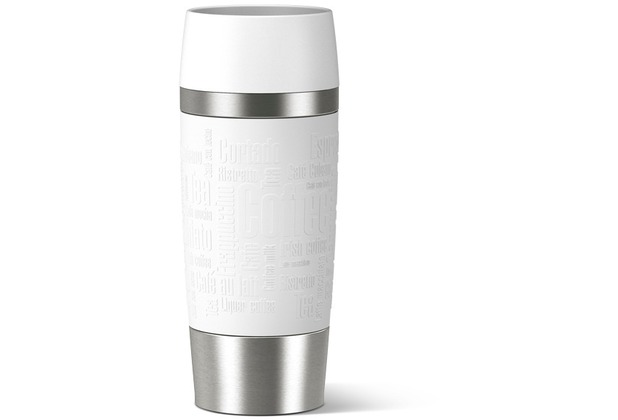 emsa Isolierbecher TRAVEL MUG Manschette, weiß, 0,36 Liter