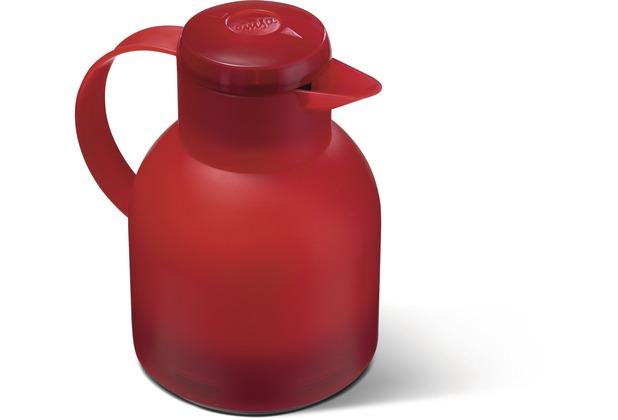 emsa Isolierkanne SAMBA, Transluzent Rot, 1,00 Liter, QuickPress
