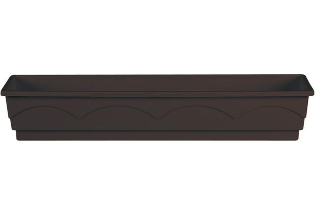 emsa Blumenkasten LAGO, Dunkelbraun, 100 x 22 x 18 cm