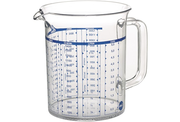 emsa Maßkanne SUPERLINE, Transparent, 1,50 Liter