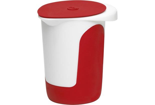 emsa Mix&Bake Quirltopf, weiß/rot mit Deckel, 1,0 L