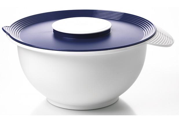 emsa r hrsch ssel superline r hrtopf mit deckel 4 50 liter wei blau. Black Bedroom Furniture Sets. Home Design Ideas