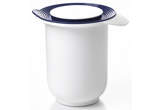 emsa r hrtopf superline quirltopf mit deckel 1 20 liter wei blau. Black Bedroom Furniture Sets. Home Design Ideas