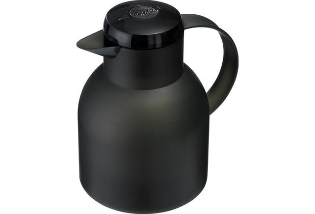 emsa Isolierkanne SAMBA, Transluzent Schwarz, 1,00 Liter, QuickPress