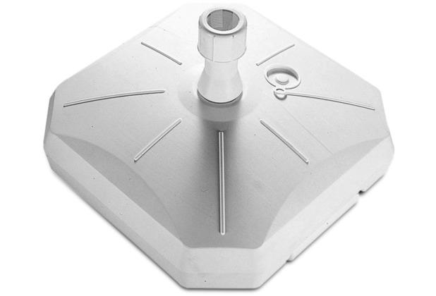 Enne Plastica Schirmständer Garda, weiß, 50 l, mit Rolle Polyäthylen-HD weiß, für Schirmstöcke von 35-55 mm, L 60 x B 60 x H 20