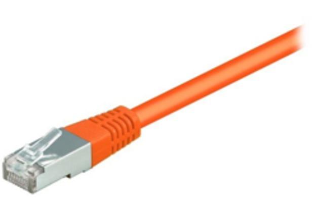 Equip CU Patchkabel S/FTP 2xRJ45 Cat.6 250MHz orange 1,0m