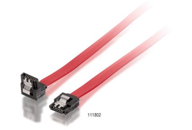 Equip Flachkabel SATA mit 1x gewinkeltem Stecker 1,0m