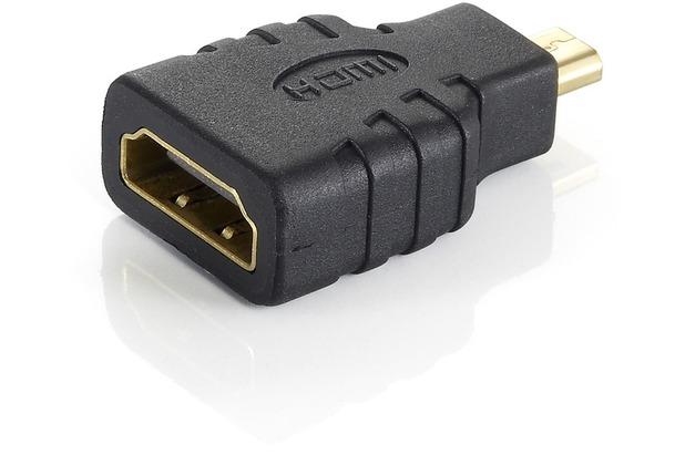 Equip HDMI Adapter HDMI Buchse-A/ microHDMI Stecker-D schwarz