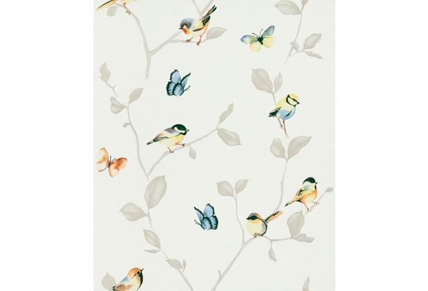 Erismann Strukturtapete auf Vlies 649808 My Garden Muster/Motiv weiß, gelb, orange, blau