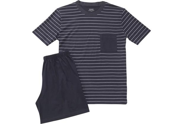 ESGE Herren Pyjama kurz blau 48