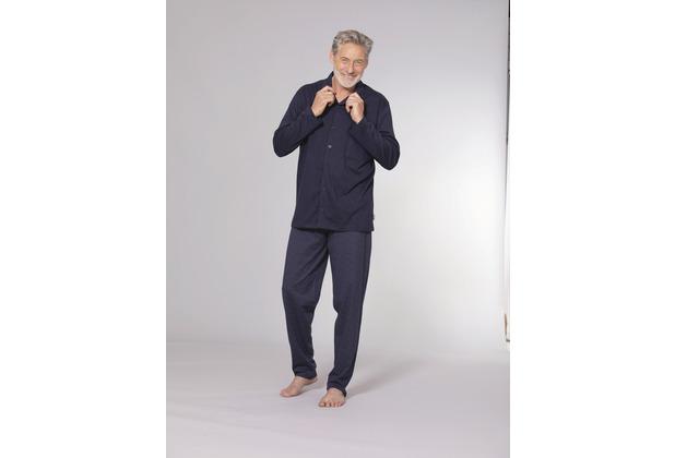 ESGE Herren Pyjama lang blau 48