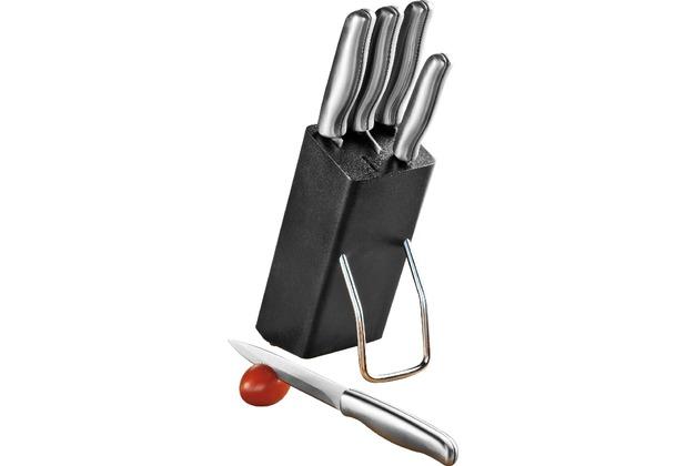 Esmeyer Messerblock MARS schwarz mit Messerset 5-teilig