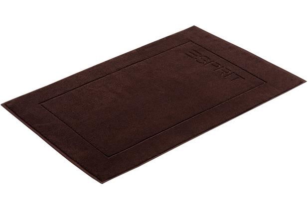 """ESPRIT Badeteppich \""""Solid\"""" chocolate 60 x 90 cm"""