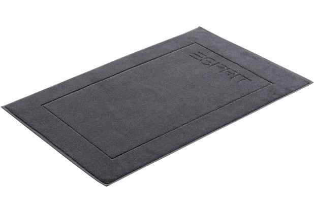 """ESPRIT Badeteppich \""""Solid\"""" grey steel 60 x 90 cm"""