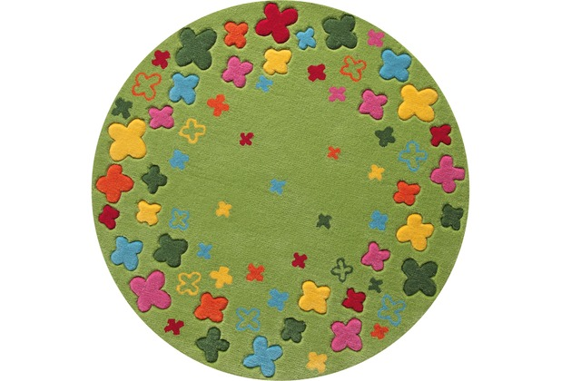 ESPRIT Kinder-Teppich BTeppich Loom Field ESP-2980-02 grün 100 x 100 cm rund