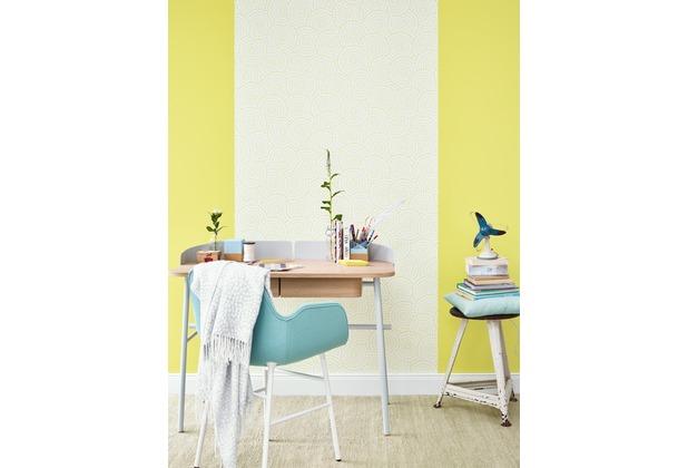 ESPRIT Uni-, Strukturtapete Dream of Spring Vliestapete gelb grün 10,05 m x 0,53 m