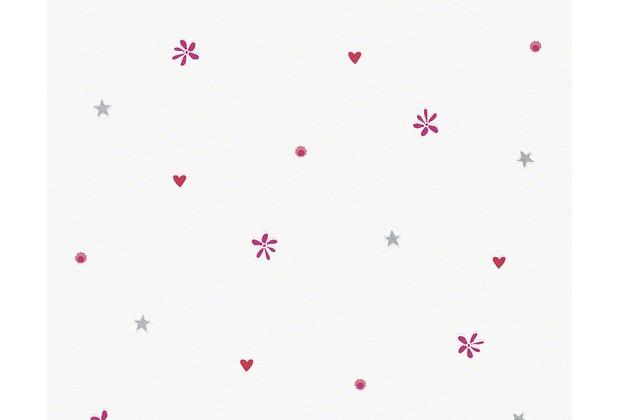"ESPRIT Kids Mustertapete \""Girls Dreams\"", Vliestapete, rot, violett, weiss 10,05 m x 0,53 m"