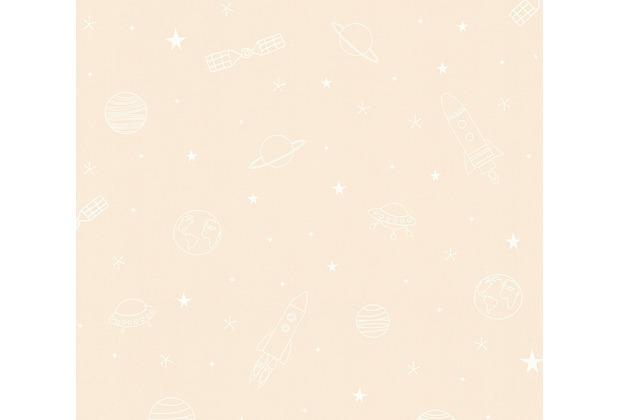 esprit kids Papiertapete Ökotapete beige weiß 10,05 m x 0,53 m