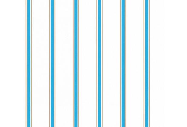 esprit kids Papiertapete Ökotapete blau braun weiß 10,05 m x 0,53 m