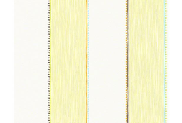 """ESPRIT Kids Streifentapete \""""Forest\"""", Vliestapete, grün, orange, weiss 10,05 m x 0,53 m"""