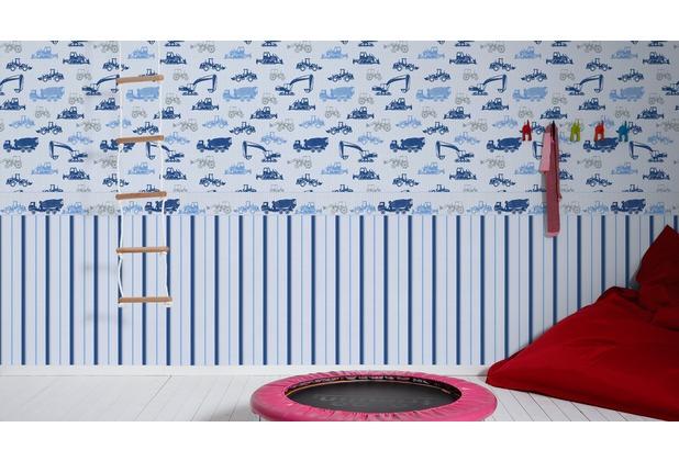 esprit kids Vliestapete Tapete blau grau metallic 10,05 m x 0,53 m